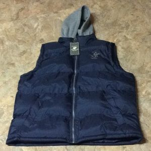 Beverly Hills Polo Club navy puffer vest NWT!